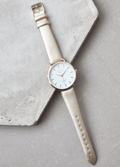 [Women] GOLD METALLIC WATCH
