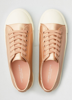 [Women] Metallic low top sneaker