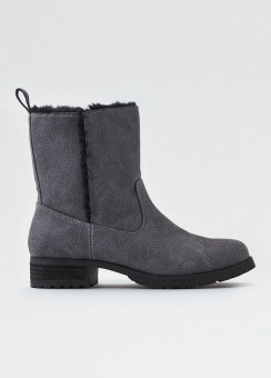 [Women] Fur shaft lug boot