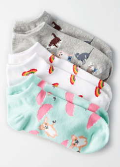 [Women] Corgi shortie sock 3pk