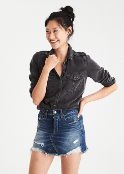 [Women] Core fall military shirt