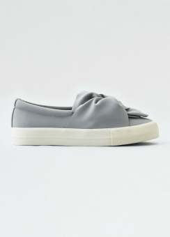 [Women] Gathered knot slip on sneaker