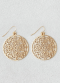 [Women] New gold filigree disc earring