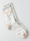 [Woman] Slub versity crew socks