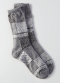 [Women] Patchwork crew socks