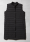 [Women] Lightweight between layering long down vest
