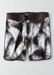 [Men] Swim scallop hem board shorts