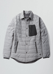 [Men] Lightweight quilted nylon overshirt