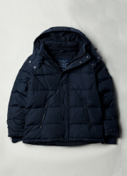 [Men] Down jacket w/ detachable hood