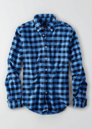 [Men] 9049 Slim fit plaid oxford shirts