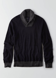 [Men] Raglan popover shawl sweater