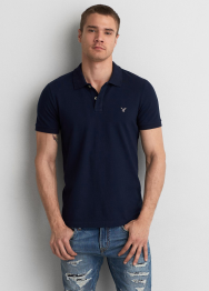 [Men] 8427 Flex slim fit pique