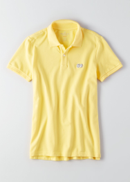 [Men] Slim new patch polo