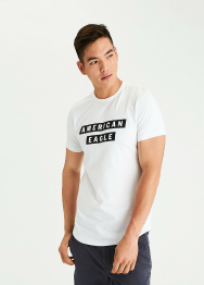 [Men] 3469 SS Set in curved hem tee