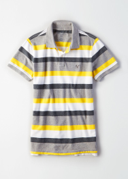[Men] Slim fit cttn stripe polo