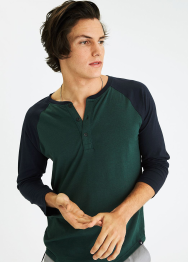 [Men] 9101 Core flex 3-4 slv henley
