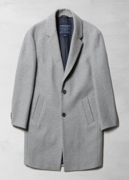 [Men] Single button wool coat