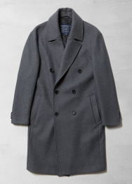 [Men] Double button wool coat