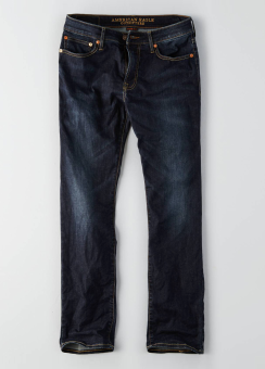 [Men] Slim straight dark wash