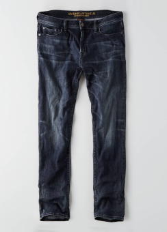 [Men] Slim dark indigo wash