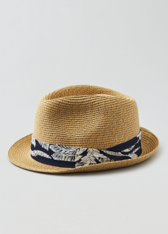 [Men] Short bill fedora