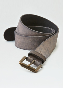 [Men] 38mm brown crumpled leather belt