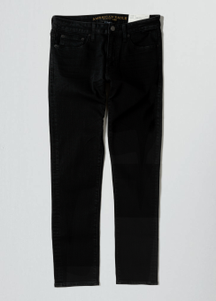 [Men] Slim taper black wash