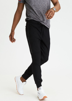 [Men] 3877 Active jogger w bonded tape bk pkt