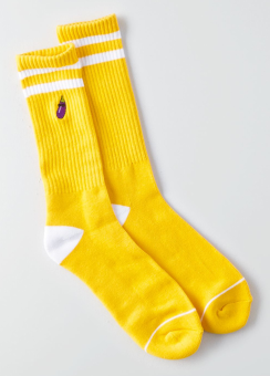 [Men] Yellow stripes sport socks