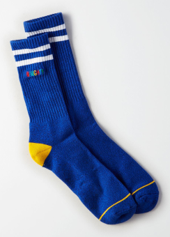 [Men] Sport sock - blue with nice & naughty