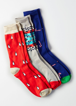 [Men] Holiday socks gift 3 pack 1