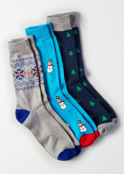 [Men] Holiday socks gift 3 pack 2