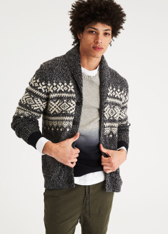 [Men] Snowflake cardigan