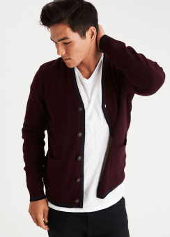 [Men] V neck cardigan
