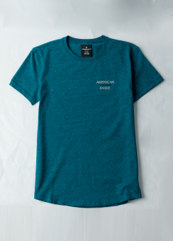 [Men] Trans - ss set in tee with faced curved hem-flex cvc