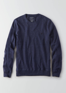 [Men] Ket item set in crew-neck sweater