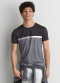 [Men] Active set in tee with printed chest stripe
