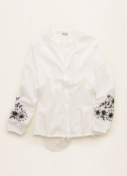 [Aerie] Dolman embroidered button down shirts