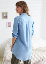 [Aerie] Chambray shirtdress