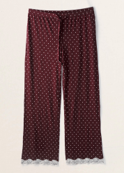 [Aerie] Essentials lace hem pj pants