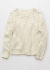 [Aerie] Cable yoke pullover