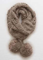 [Aerie] Removable pom cable snood