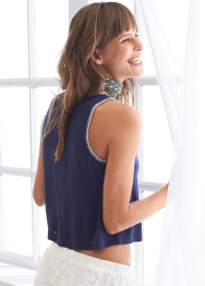 [Aerie] Embroidered crop tank
