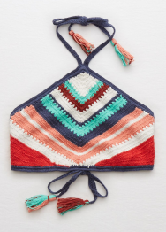 [Aerie] Crop linear hand crochet