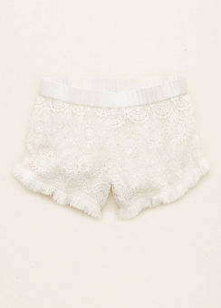 [Aerie] Allover lace fringe trim short