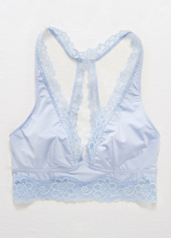 [Aerie] Shine plunge with katie lace trim