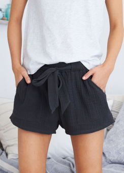 [Aerie] Gauze pocket short solid