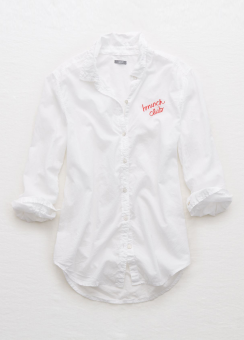 [Aerie] Embroidered shirt
