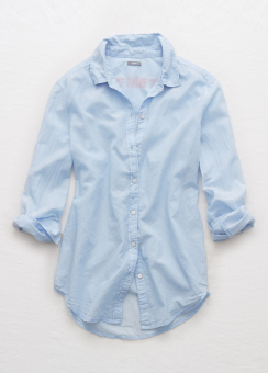 [Aerie] End on end embroidered shirt