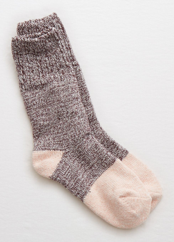 [Aerie] Colorblocked boot sock